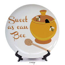 "<b>№</b>03125 10"" Dinner Plate/ <b>Honey</b> Bee, Cart- Buy Online in ..."