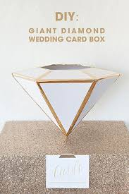 Learn how to make this giant, <b>DIY Wedding Card</b> Box <b>Diamond</b> ...