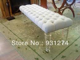 free shippingterrace contraced design customizable and eco friendly acrylic bench with cushion furniture acrylic legs for furniture