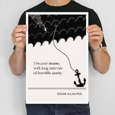 literary art print edgar allan poe large wall art posters 128270zoom