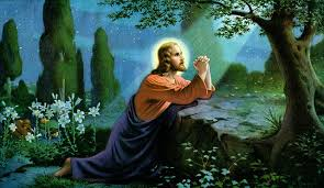 Image result for Jesus praying to his god, Yahweh