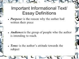informational text and essay unit what is informational text important informational text essay definitions purpose is the reason why the author had written