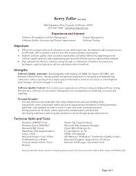 manual testing resume resume formt cover letter examples sample manual testing resumes