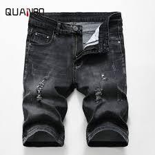 <b>QUANBO 2019 New</b> Arrival <b>Summer</b> Men Hole Ripped Denim ...