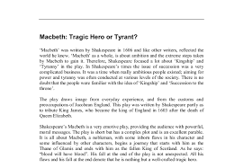 macbeth tragic hero essay questions   types of validity in        essay lesson plans w e b dubois essay write master thesis in latex purpose of an macbeth is a tragic hero macbeth  macbeth   a tragic hero macbeth