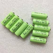 <b>10PCS</b> 2/3AAA 1.2V rechargeable battery pack 400mah <b>2/3 AAA</b> ni ...