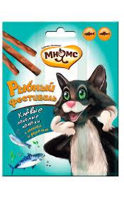 <b>Мнямс лакомые палочки для</b> кошек Рыбный фестиваль (лосось ...