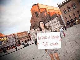 Alessandra Bernaroli, a transgender woman, protested for her right to stay married after her transition.