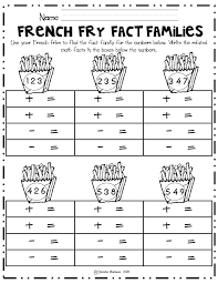 1000+ ideas about Fact Families on Pinterest | Math, Place Values ...Math French, French Fry, French Fries, Math Fact Families, Kindergarten Fact Families, Teaching Fact Families First Grade, Fact Families Worksheet, Fact ...