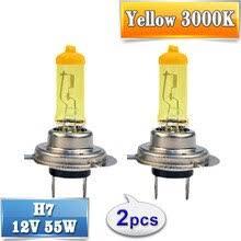 Галогенная <b>лампа H7</b> желтая 12V <b>55W</b> 3000K, ксеноновая ...