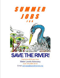 save the river part time summer jobs save the river canvass poster
