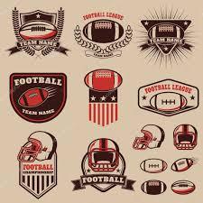 <b>Набор американского футбола</b> этикетки, эмблемы и элементы ...