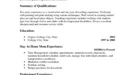 resume cover letter   page  of    will give you some resume      stay at home mom resume sample
