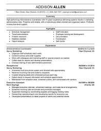 best administrative coordinator resume example   livecareeredit
