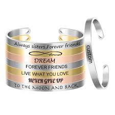 Customized <b>Stainless Steel Mantra Bangle</b> Engraved Positive ...