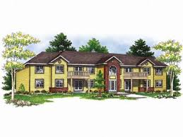 Multi Family House Plans and Apartment Home Plans   The House Plan    Apartment Building Plan  M