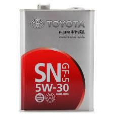 Купить <b>TOYOTA MOTOR OIL</b> 5W-30 SN син 1л <b>Масло моторное</b> (в ...