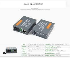 <b>Htb 3100ab Optical Fiber</b> Media Converter Fiber Transceiver Single ...