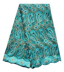 SanVera17 Manual Beading African Lace Net Fabrics ... - Amazon.com