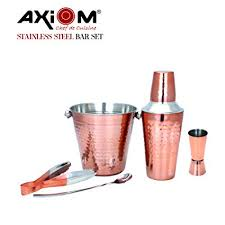 Buy AXIOM <b>5 Pieces BAR Set</b> of Peg Measurer, Ice Bucket, Cocktail ...
