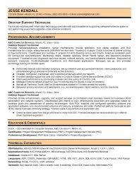 desktop support technician resume desktop support resume sample