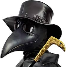 PartyHop Plague Doctor Mask, Black Bird Beak ... - Amazon.com