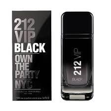 Perfume <b>Carolina Herrera 212 Vip</b> Black Masculino Eau De Parfum ...