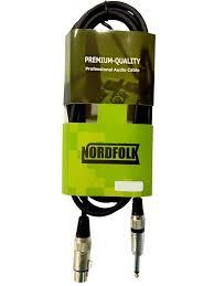 <b>Кабель микрофонный NordFolk</b> XLR F 6 35mm Jack Mono 5m ...