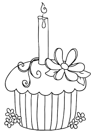 cupcake with candle coloring pages cookie coloring pages