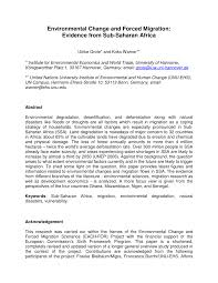 academic paper pdf environmental change and forced migration academic paper pdf environmental change and forced migration evidence from sub saharan africa