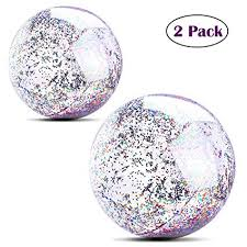 MODOLO 2 Pack Inflatable Glitter Beach Ball 14 Inch ... - Amazon.com