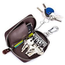 <b>Men</b> Women <b>Genuine Leather</b> Car Key <b>Case Key</b> Holder Waist Bag ...