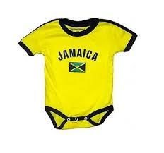 Jamaica <b>Baby Bodysuit 100</b>% <b>Cotton</b> Soccer Country Flag T-Shirt All ...