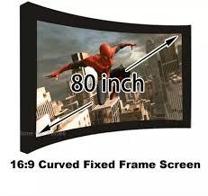 <b>Brand New 80</b> Inch Wall Mounting Projection Screen 16:9 Format ...