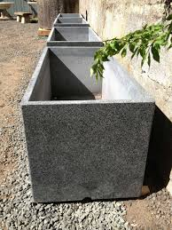 two pairs of large contemporary granite planters for sale at stdibs