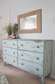 beach themed bedroom aqua painted unfinished dresser from ikea distressed finish paired with beach theme furniture 1000