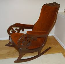 antique mahogany upholstered rocking chair e2 80 9clincoln rocker early victorian lincoln accent chair in furniture antique chair styles furniture e2