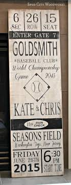 17 best ideas about baseball tickets graphic vintage baseball ticket handpainted wood sign
