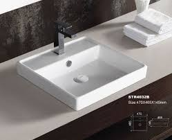 bathroom countertop basins wholesale: ceramic bathroom sink countertop sinks oval round square single hole basin wall hung sinks factory maunfacturer