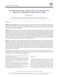 (PDF) Network Pharmacology Analysis Uncovers the Potential Anti ...