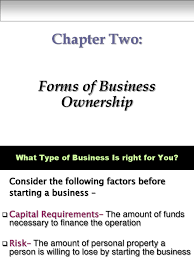 chapter 02 forms of business ownership