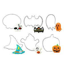 Buy Flowerherd <b>Halloween</b> Cookie Cutters & Cake Pattern Mold Set ...