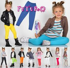 Thick Warm <b>Cotton Girls</b> Full Length Leggings Basic Plain <b>Kids</b> ...