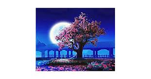 No Frame Peach Blossom <b>DIY Painting By</b> Numbers Landscape ...
