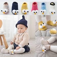 New <b>Fashion Cute</b> Toddler Infant Baby Big Eyes <b>Winter Warm</b> Socks ...