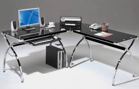 inspiring shaped home office black glass l shaped desk black glass office desk