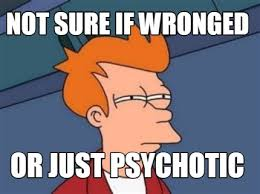 Meme Maker - NOT SURE IF WRONGED OR JUST PSYCHOTIC Meme Maker! via Relatably.com