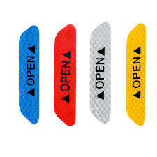 Motors <b>4PCS Auto Car</b> Door <b>Open</b> Sticker <b>Reflective</b> Tape Safety ...