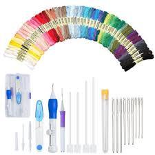 <b>magic diy embroidery pen</b> set knitting sewing tool kit punch needle ...