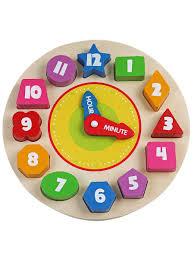 """<b>Игрушка деревянная</b> """"Рамка-вкладыш Часы"""" <b>BONDIBON</b> 3307483 ..."""